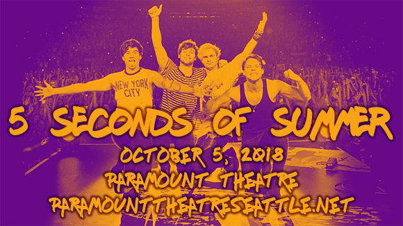 5 Seconds of Summer at Paramount Theatre Seattle