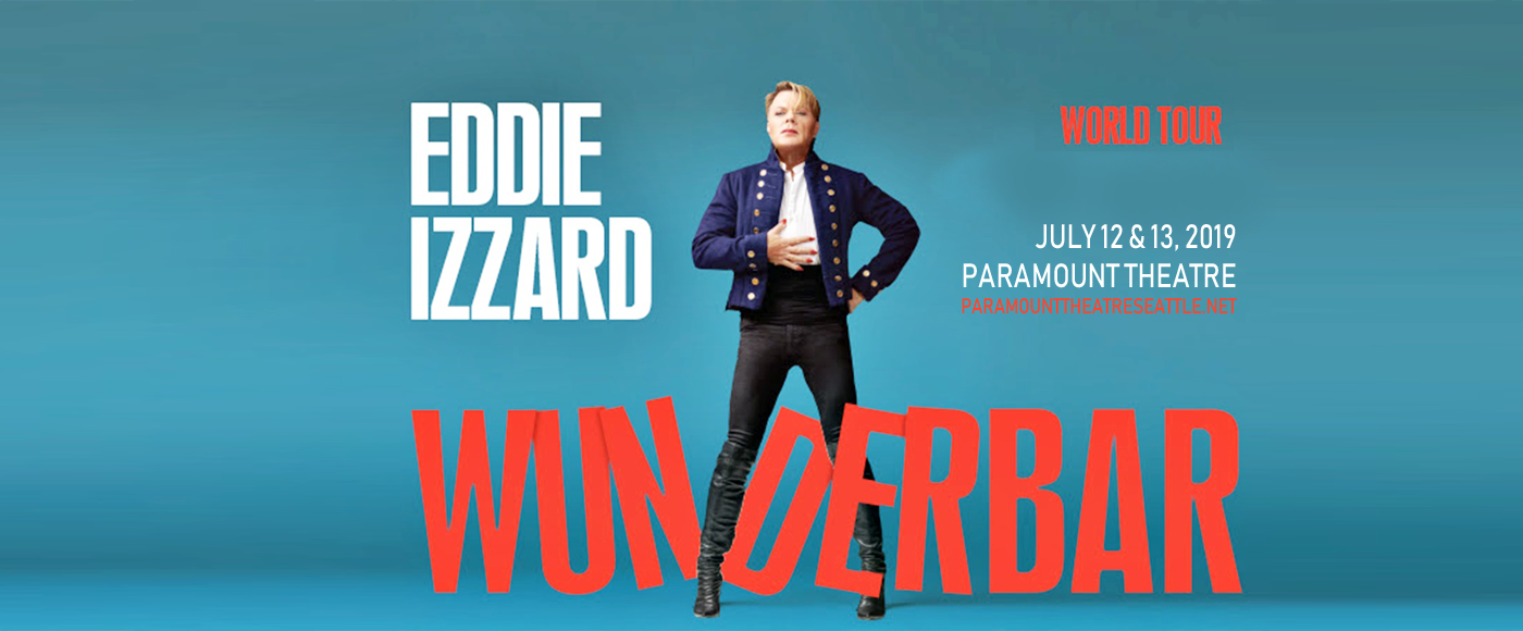 Eddie Izzard at Paramount Theatre Seattle