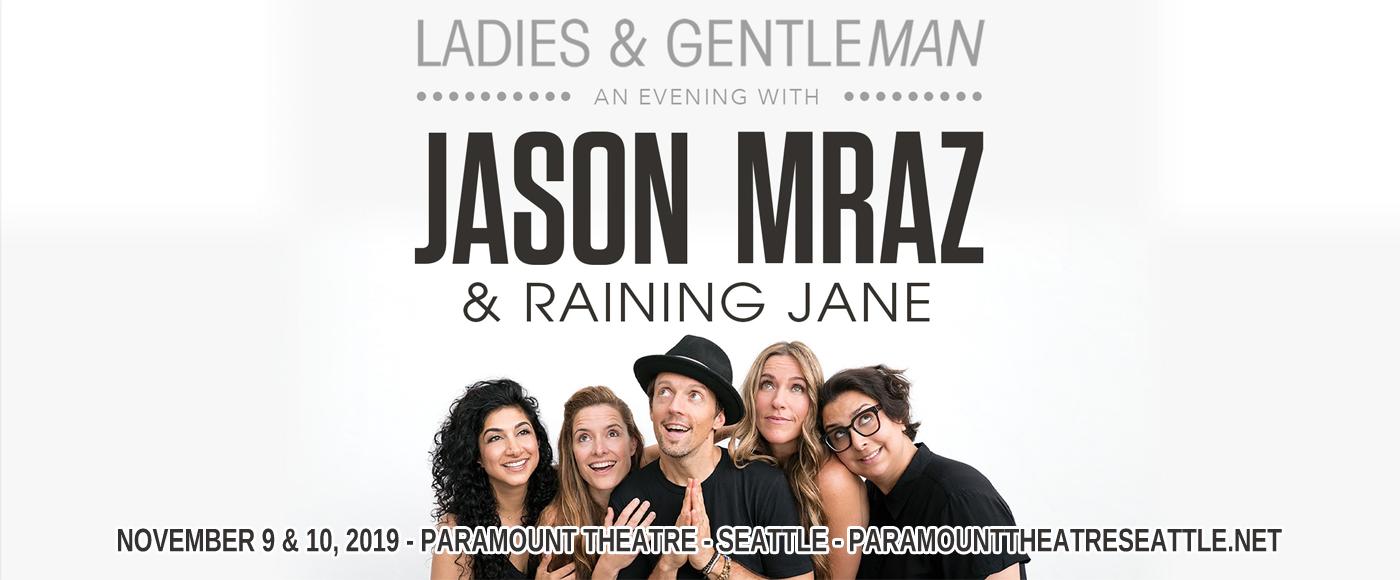 Jason Mraz & Raining Jane at Paramount Theatre Seattle