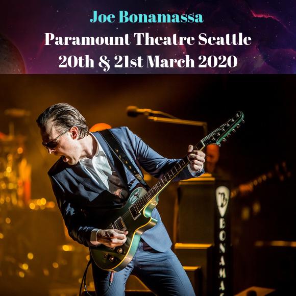 Joe Bonamassa at Paramount Theatre Seattle