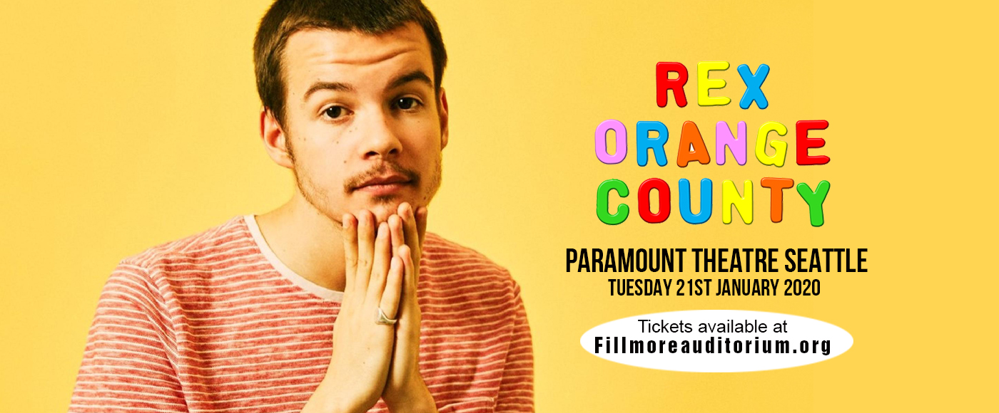 Rex Orange County at Paramount Theatre Seattle
