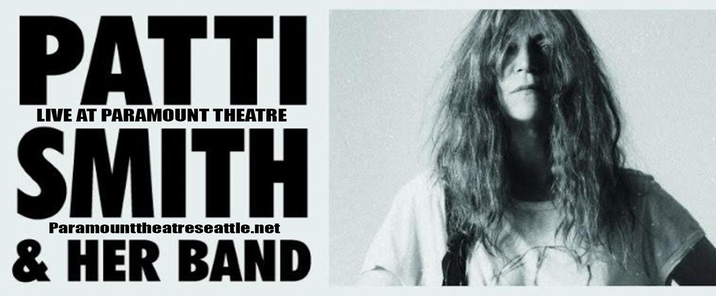 Patti Smith at Paramount Theatre Seattle