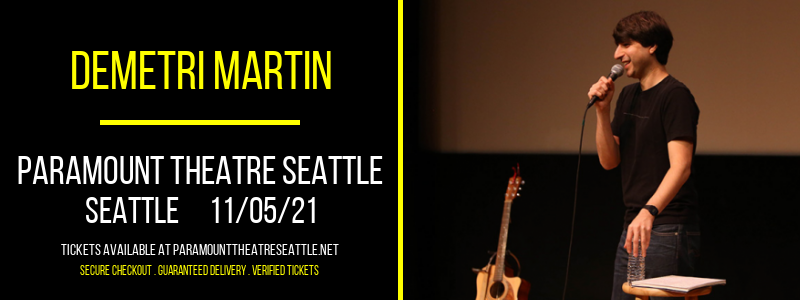 Demetri Martin at Paramount Theatre Seattle