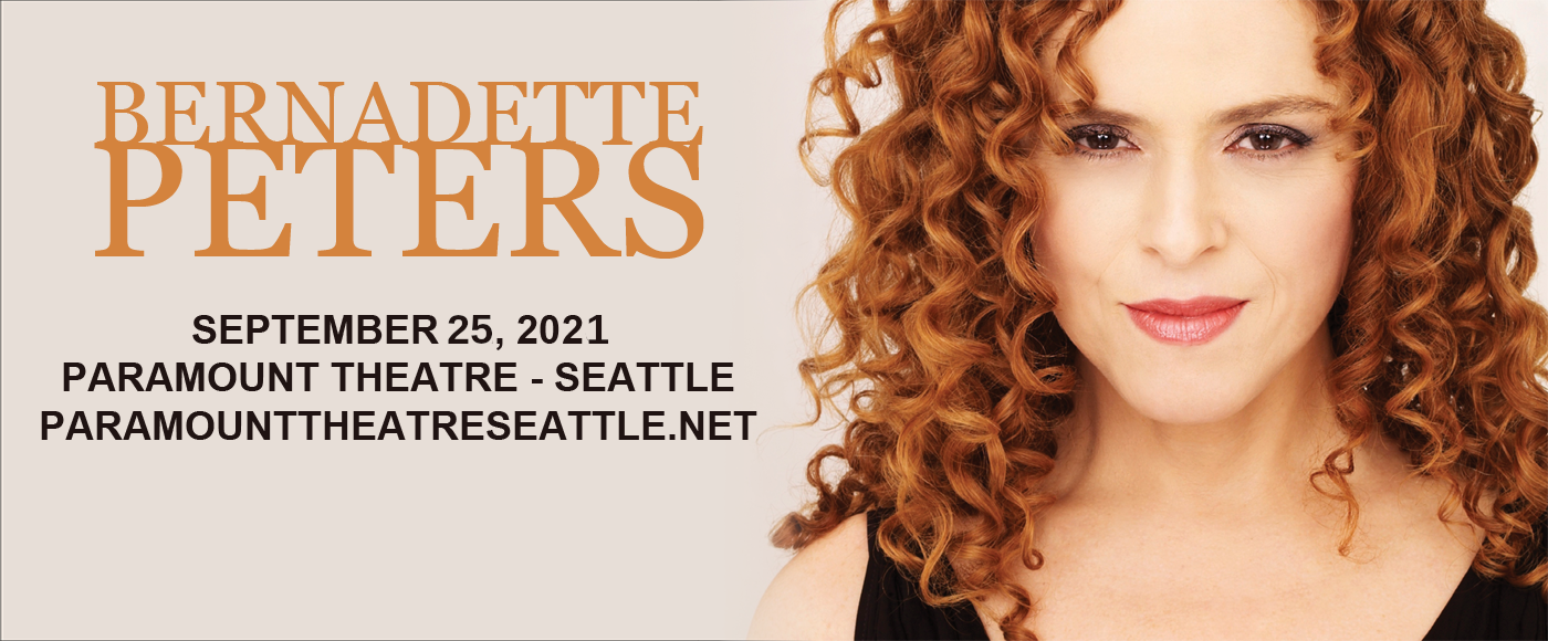 Bernadette Peters at Paramount Theatre Seattle
